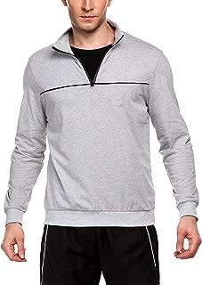 COOFANDY Men's Active Sporty Long Sleeve 1/4 Zip Cotton Sweatshirt Pullover