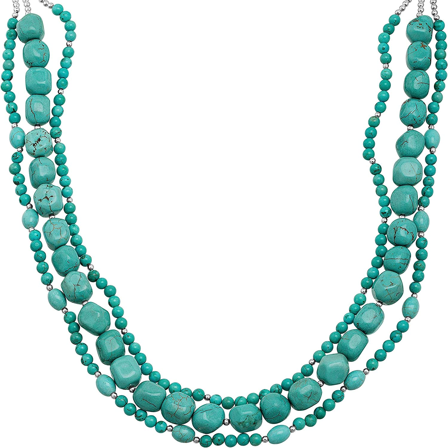 Silpada 'Winslow Wind' Natural Quality inspection Howlite Don't miss the campaign Necklace Sterling Silv in