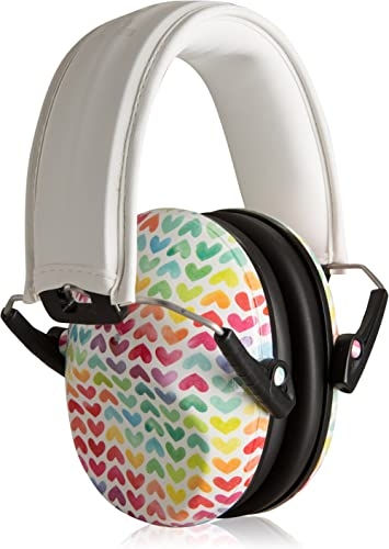 Muted Designer Hearing Protection for Infants & Kids - Adjustable Children's Ear Muffs from Toddler to Teen - Rainbow...