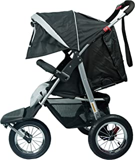 Black Mamakiddies 3 Wheel Baby Stroller Pram Jogger Push Chair