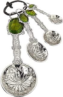 Ganz 4-Piece Measuring Spoons Set, Turtle (ER21862), silver