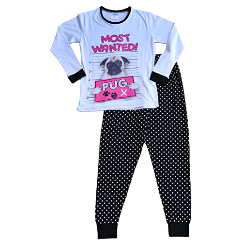 174fa7a17106c Girl's Long Pyjamas Most Wanted Pug Pj 9 to 16 Years