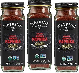 Watkins Gourmet Organic Spice Jar, Smoked Paprika, 2.4 oz. Bottle, 3-Pack