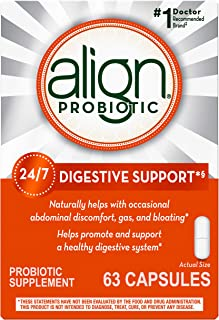 Align Probiotics Supplement, 63 Capsules, Gluten Free Digestive Support for Adult Men and Women