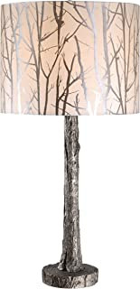 Kenroy Home 32656ASIL Fleetwood Table Lamp, Antique Silver Finish