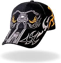 Hot Leathers Tribal Bike Ball Cap (Black)