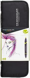 Prismacolor 1776354 Marker Set, 48 Pieces, Brush/Fine Zip Case