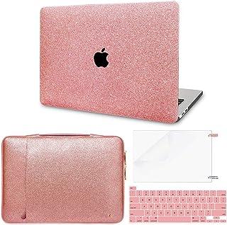Funda para MacBook Pro de 13 pulgadas 2020 (Modelo: A2338 M1 A2289 A2251) + funda de piel brillante para portátil Pro 2020...