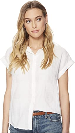 Lucky Brand - Solid Short Sleeve Top