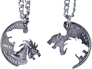lion and lioness necklace