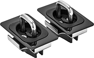 Bull Ring Gunmetal Flush Fit Retractable Tie-Down Anchors | 2009-2021Dodge Ram (Front or Middle) |Rail Cap Trim Required t...