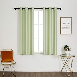 UVNESS Room Darkening Blackout Curtains for Bedroom/Living Room - Grommet Drapes, Thermal Insulated, 42 x 63 Inch, Aqua Gr...