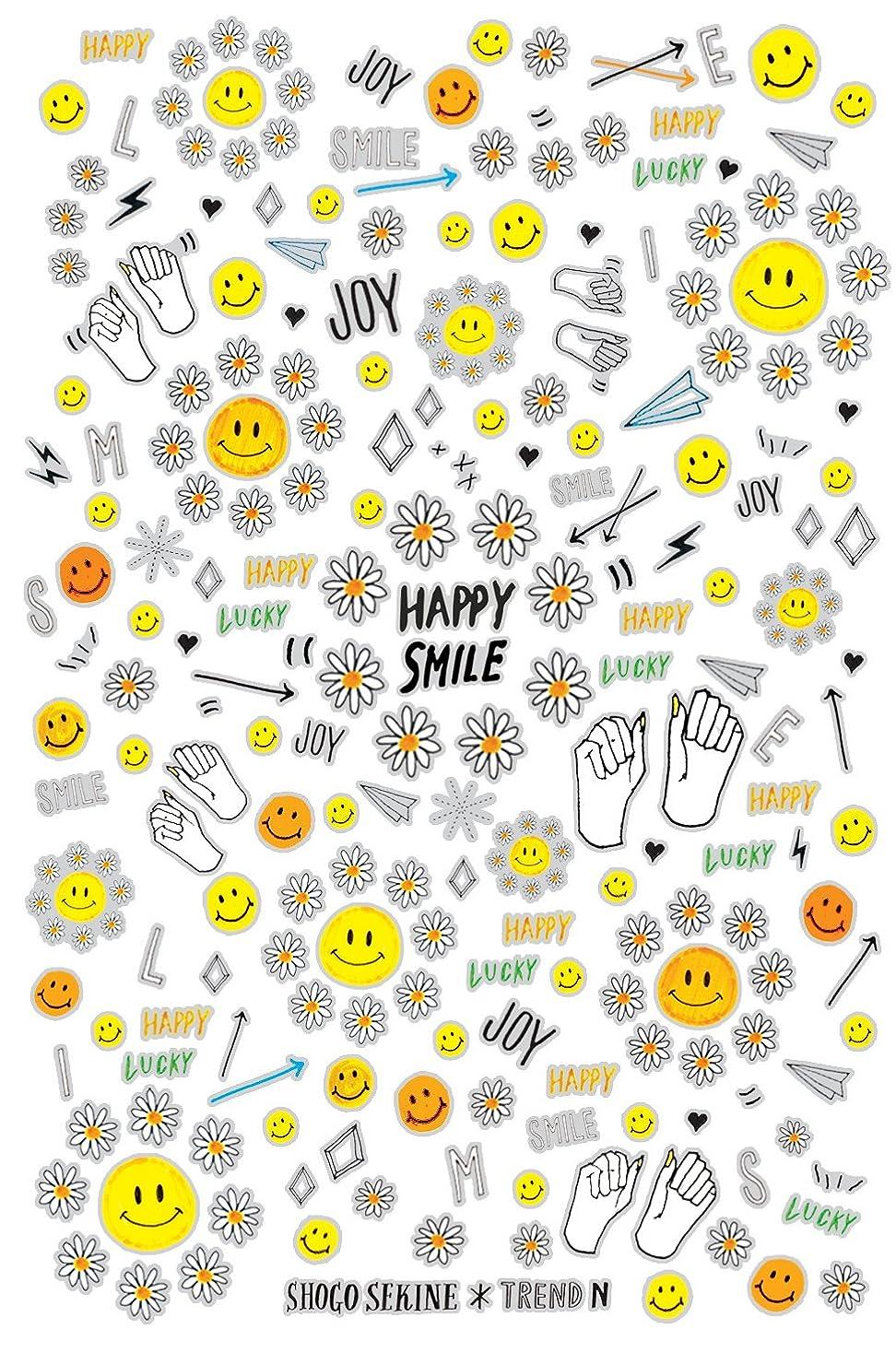 南アメリカようこそ支店トレンドN ネイルシール HAPPY SMILE