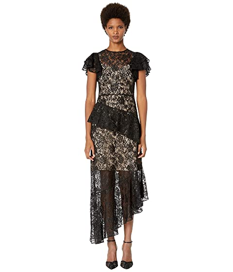 ML Monique Lhuillier Long Transparent Dress Overlayed