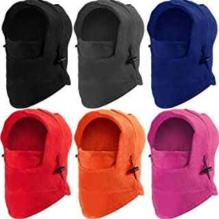 6 Pieces Kids Balaclava Hat Winter Windproof Double...