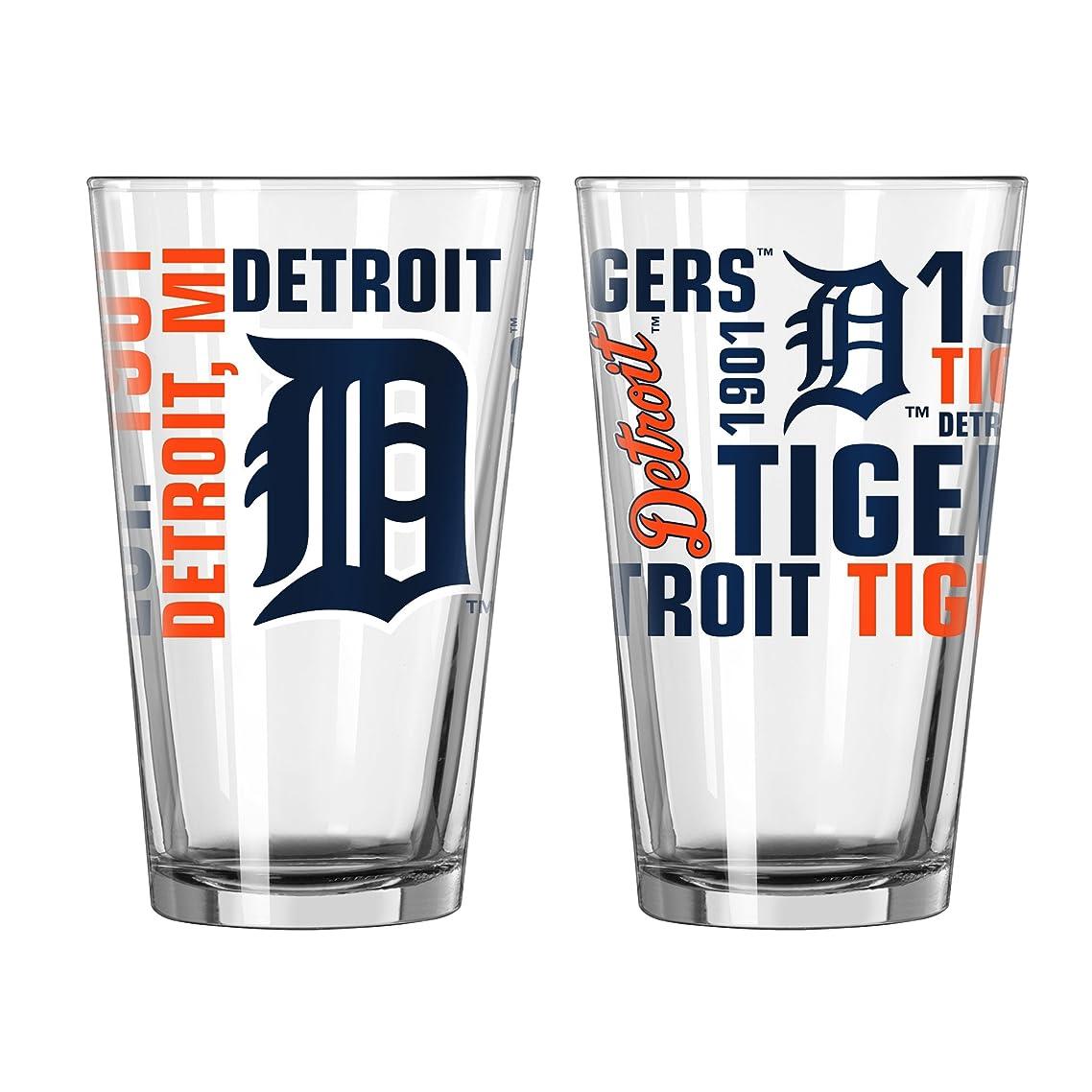 チャネル本当のことを言うとグッゲンハイム美術館MLB Detroit Tigers Spirit Pint Glass Set ( Pack of 2?)、473ml