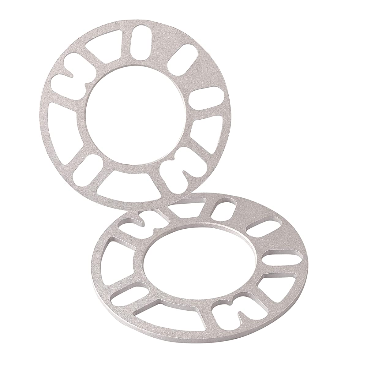 5mm Thickness Wheel Spacers for 98-120 Rims Wheel, Alloy Aluminum Unverisal Adapters for 4 Lug or 5 Lug Wheels Provide Desired Offset (Pack of 2)