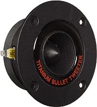 "1"" Audio Car Tweeter Speaker - 3.25"" Bullet Horn Aluminum Die-Cast Titanium Dome, 300 Watt Peak, 2k-25kHz Frequency Response, 4 to 8 Ohm, Heavy Duty 20 oz. Magnet Structure - 1 Pair - Pyramid TW18BK"