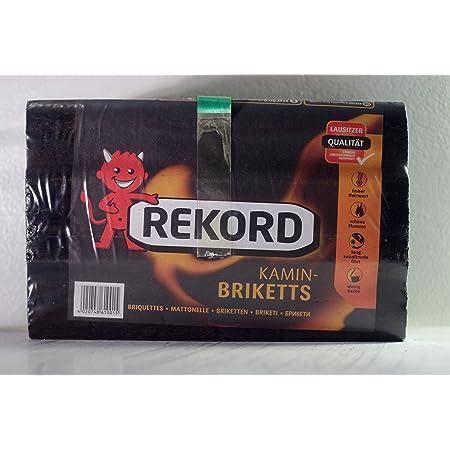 150kg Rekord Brix Kohlebriketts im 10kg Folienbag der TOP Gluthalter Braunkohle