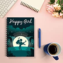 HAPPY GIRL Notebook: Notebook for Valentine's Day and International Women's Day, is a valuable gift for girlfriend, dark blue. Suitable for personality girlfriend. Size: 6*9 (inch), 200 pages.