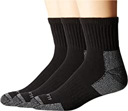 Cotton Quarter Work Socks 3-Pack