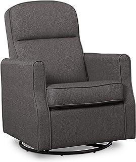Delta Children Blair Slim Nursery Glider Swivel Rocker Chair, Charcoal , 26.5x31.5x 36 Inch (Pack of 1)