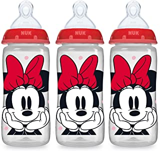 NUK Smooth Flow Disney Bottle, Minnie Mouse, 10 Oz, 3 Pack