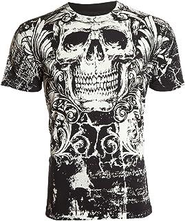 Affliction Archaic Mens T-Shirt KILLROY Skull Black Motorcycle Biker UFC