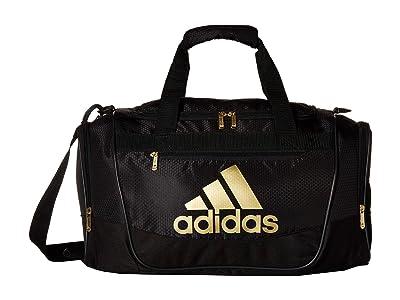 adidas Defender III Small Duffel (Black/Gold) Duffel Bags