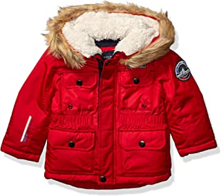 Boys' Warm Winter Coat Parka with Cozy Trimmed Hood