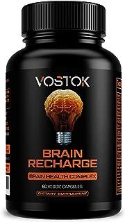 Nootropics Brain Support Supplement - Memory - Focus - Clarity - Brain Function Booster with DMAE, Bacopa Monnieri, L-Glutamine, Vitamins, Minerals - 60 Veggie Capsules