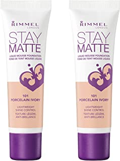 Rimmel, Stay Matte Foundation, Porcelain Ivory (2-Pack)