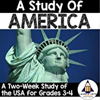 A Study of America: A Hands-On Interactive Research Project - (USA Study, United States Culture, 3rd Grade, 4th Grade)