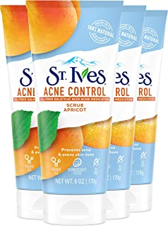 St. Ives Face Scrub For Healthy-Looking Skin Apricot Face Wash Scrub With Salicylic Acid and 100% Natural Exfoliants 6 oz ...