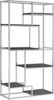 Best contemporary chrome bookcase Reviews