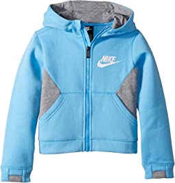 Sportswear Club Fleece Full Zip Hoodie (Little Kids)
