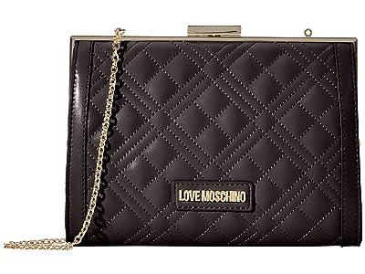 LOVE Moschino Quilted Mini Crossbody (Black) Handbags