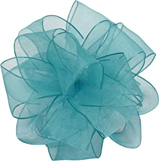 Offray Wired Edge Encore Sheer Craft Ribbon, 1-1/2-Inch Wide by 25-Yard Spool, Turquoise