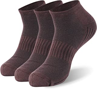 Bamboo Socks, Sunew Unisex Super Soft Cushioned Comfortable Wicking Moisture No Show/Low-cut Workout Socks 1/3/6 Pairs