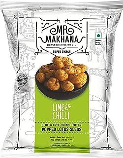 MR Makhana Lime & Chili Flavored Makhana | Super Snack | Roasted | 2.65oz (75g) Family Size