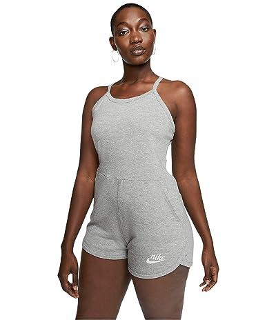 Nike NSW Gym Vintage Romper (Dark Grey Heather/Sail) Women