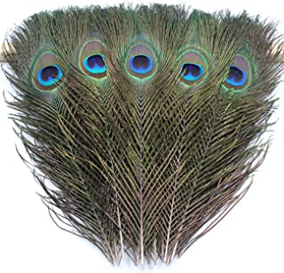 100 Blisstime Natural Peacock Feathers 10-12