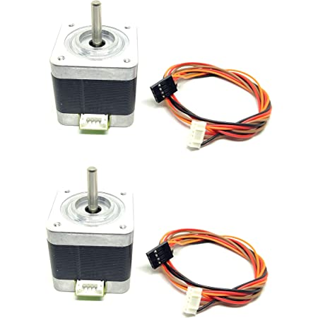 INVENTO 2Pcs Nema 17, 4 Kg-cm Bipolar Stepper Motor For CNC Robotics DIY Projects 3D Printer