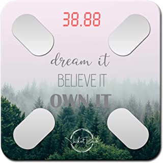 Dream it - Motivational smart scale,W Body fat scale, body composition scale, bathroom scales Know your body fat percentag...
