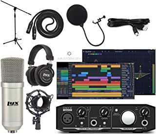 Mackie Onyx Artist 2-2 Audio/Midi interface With Pro Tools First/Tracktion Music Production Software Studio Bundle with Professional Recording Condenser Microphone