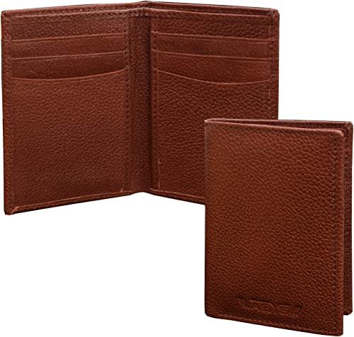 ABYS Genuine Leather Bombay Brown Men Business Card Holder||Money Purse||Pocket Wallet with 6 Card Slots