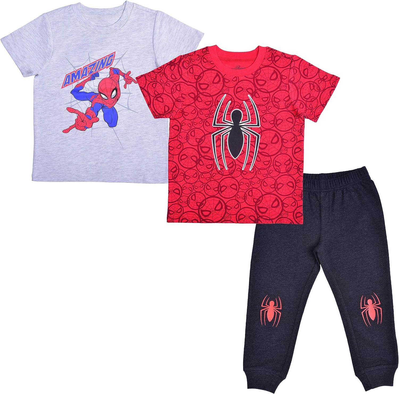 Marvel Boy's 3-Piece Amazing Spider-Man T-Shirt and Jogger Pant Set
