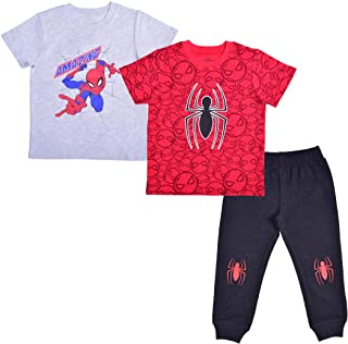 Marvel Boy's 3-Piece Amazing Spider-Man T-Shirt and Jogger Pant Set