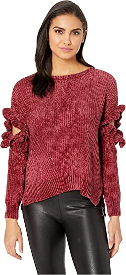 Elbow Detail Chenille Sweater