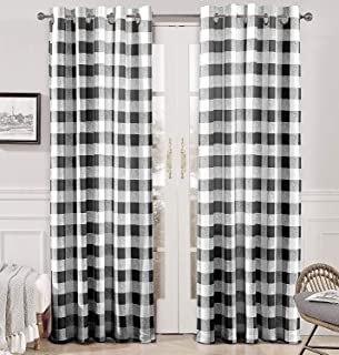 DriftAway Buffalo Checker Pattern Lined Thermal Insulated Blackout and Room Darkening..